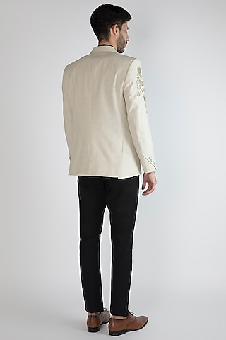 Off White Hand Painted Blazer by Ananke