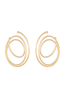 Gold Plated Hoop Earrings by Anaqa