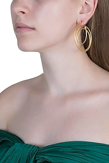 Gold Plated Hoop Earrings by Anaqa