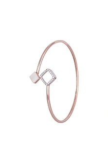 Rose Gold Plated Cubic Zirconia Bracelet by Anaqa