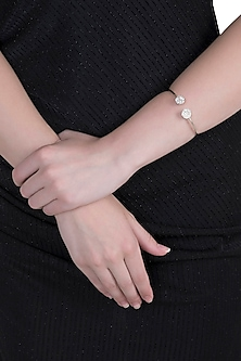 White Finish Cubic Zirconia Bracelet by Anaqa