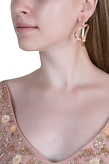 Rose Gold Plated Earrings by Anaqa