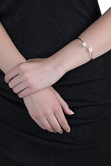 White Finish Zirconia Bracelet by Anaqa