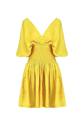 Tuscan Sun Cape Sleeves Dress by Ankita