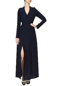 Navy Blue Long Dress by Ankita