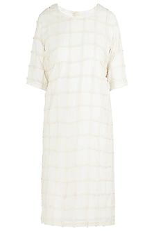 Beige Shift Dress by Ankita