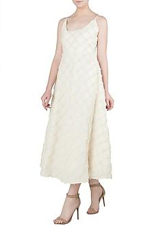 Beige Strappy Maxi Dress by Ankita