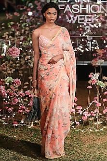 Blush Floral Saree Set by Anita Dongre