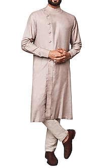 Grey Front Open Kurta by Anita Dongre