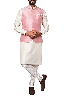 Light Pink Nehru Jacket by Anita Dongre