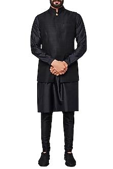 Black Nehru Jacket by Anita Dongre