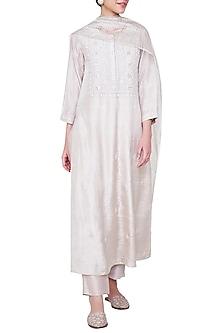 White Embroidered Kurta Set by Anita Dongre