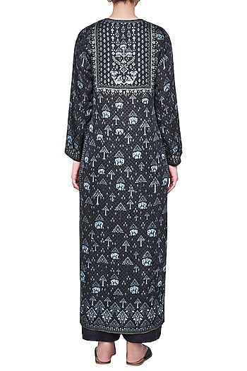 BLACK PRINTED KURTA by Anita Dongre