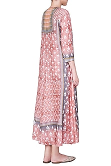 Peach Embroidered Maxi Dress by Anita Dongre