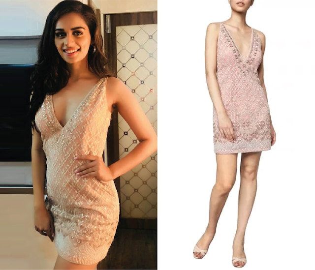 Blush Pink Embroidered Dress by Anita Dongre