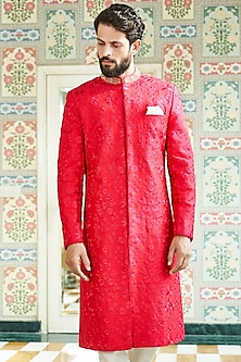Pink Embroidered Sherwani by Anita Dongre Men