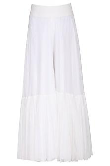 White sharara pants by Aruni