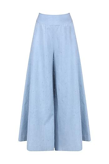 Sky Blue Denim Pants by Aruni