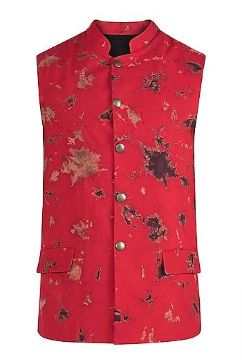 Red Tie & Dye Bundi Jacket by Ananke