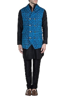 Blue Batik Bundi Jacket by Ananke