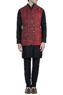 Red Batik Bundi Jacket by Ananke