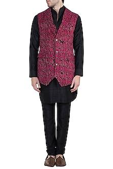 Dark Pink Bundi Jacket by Ananke