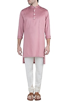 Mellow Rose Patched Pocket Kurta by Ananke