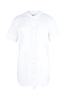 White Short Sleeves Shirt by Ananke