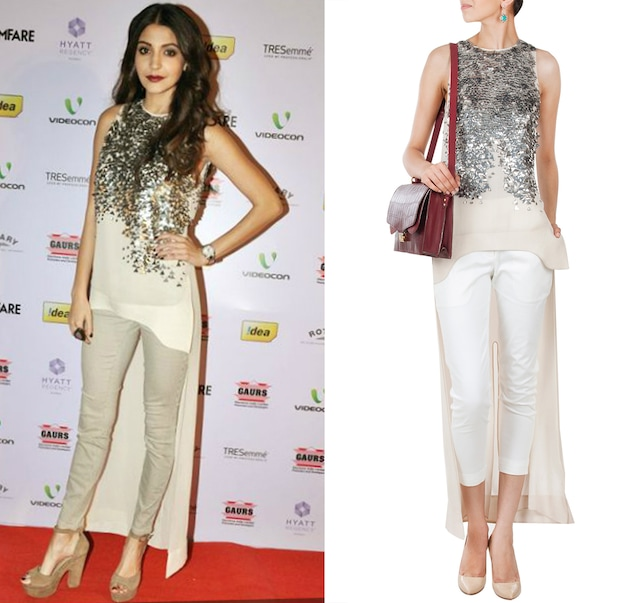 Asymmetrical high-low top by Rohit Gandhi and Rahul Khanna