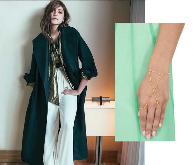Double dew drop shackles hand harness by Eina Ahluwalia