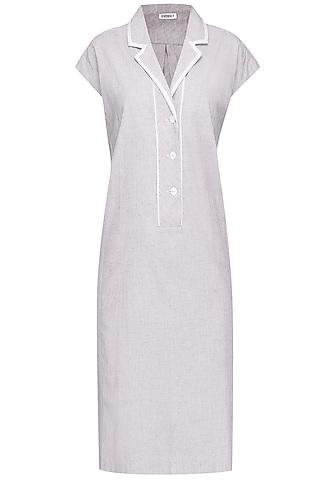 Pale Blue Modern Shift Dress by Anomaly