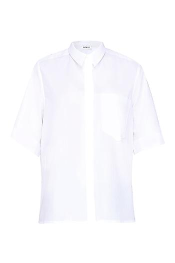 Ivory Boxy Cropped Shirt by Anomaly