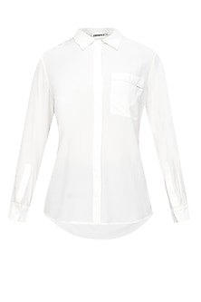 Ivory button down silk shirt by Anomaly