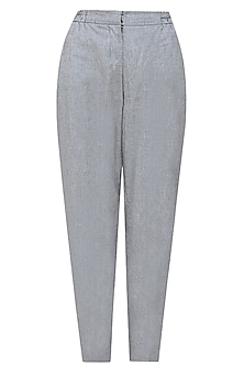 Grey and black high waisted pinstriped pants by Anomaly