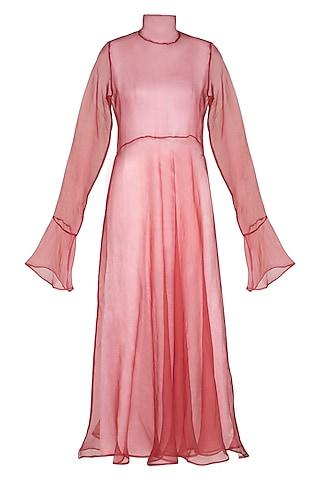 Marsala Flared Dress by AQDUS