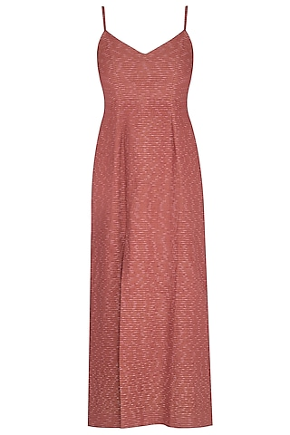 Marsala Embroidered Strappy Dress by AQDUS