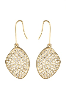 Gold Plated Enchanted Diamond Earrings by ARVINO
