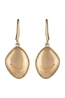Gold Plated Metalhead Earrings by ARVINO
