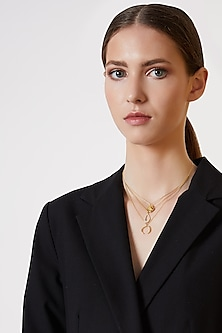 Gold Plated Multi-Layered Necklace by ARVINO