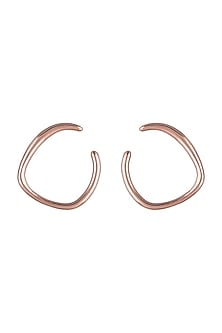 Rose Gold Plated Trine Earrings by ARVINO