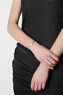 Rose Gold Plated Metal-Head Bracelet by ARVINO