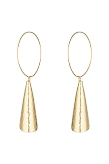 Gold Plated Handcrafted Hoop Earrings by ARVINO
