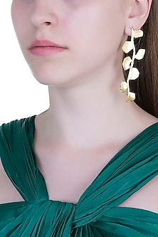 Gold Plated Handcrafted Dangler Earrings by ARVINO