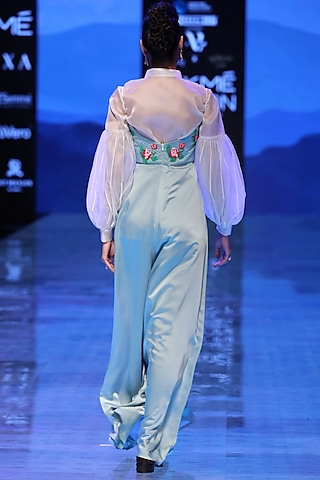 Off White Embroidered Shirt by Archana Rao