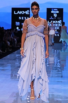 Lavender Ruffled Dress by Archana Rao