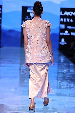 Pink Satin Slip Dress by Archana Rao