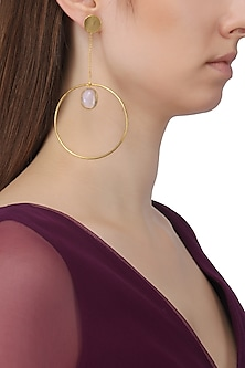 Gold Plated Chain and Opal Earrings by Aaree Accessories