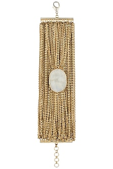 Gold plated chain bracelet by SAMSARA Jewels by RH