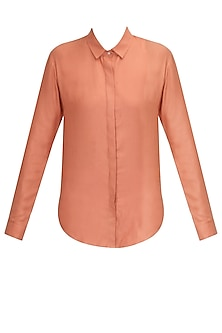 Blush pink shirt by Archana Rao