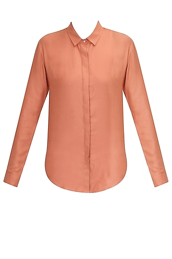 Blush pink shirt by Archana Rao